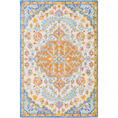 Antigua Light Blue Rectangular: 8 Ft. x 10 Ft. Rug