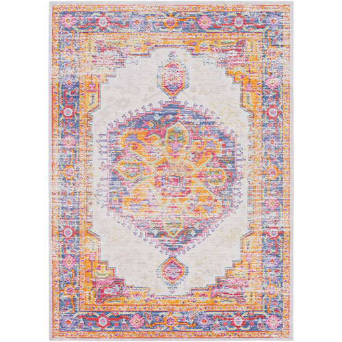 Antioch Purple Rectangle: 2 Ft. x 3 Ft. Rug