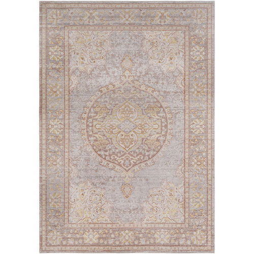 Antioch Gray and Camel Rectangle: 2 Ft. x 3 Ft. Rug