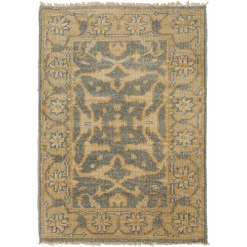 Ainsley Slate and Gold Rectangular: 2 Ft x 3 Ft Rug