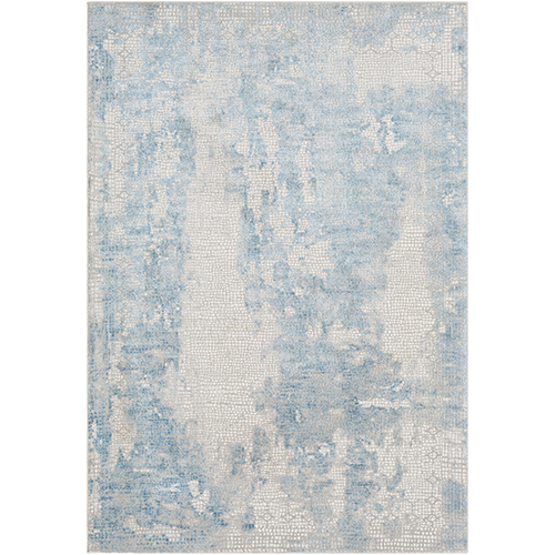 Aisha Sky Blue Rectangular: 9 Ft. 3 In. x 12 Ft. 3 In. Rug