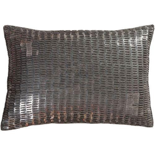 Ankara Camel and Medium Gray 13 x 19 In. Throw Pillow Cover