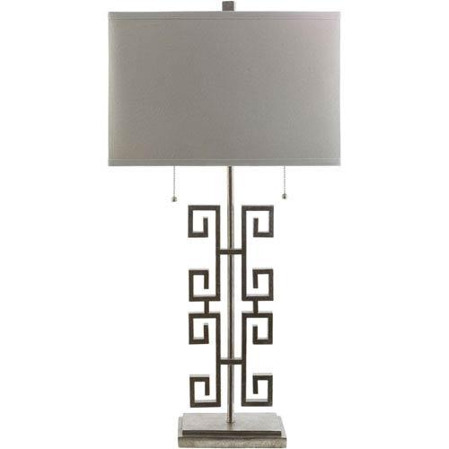 Antony Silver Two-Light Floor Lamp