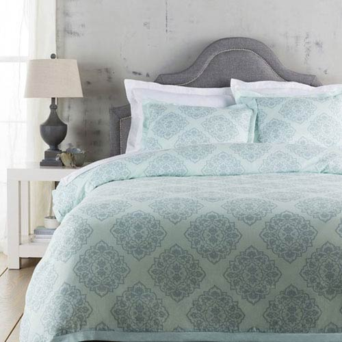 Anniston Aqua King Bed Skirt
