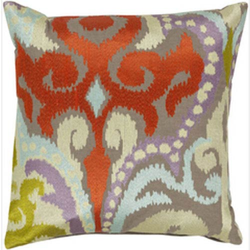 Radiant Swirl Multicolor 20-Inch Pillow with Down Fill