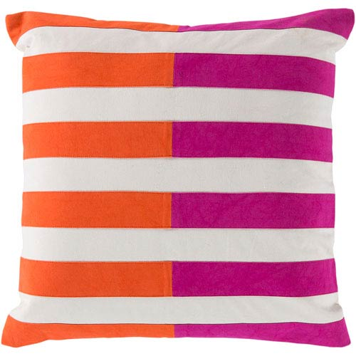 Oxford Pink and Orange 18-Inch Pillow Cover