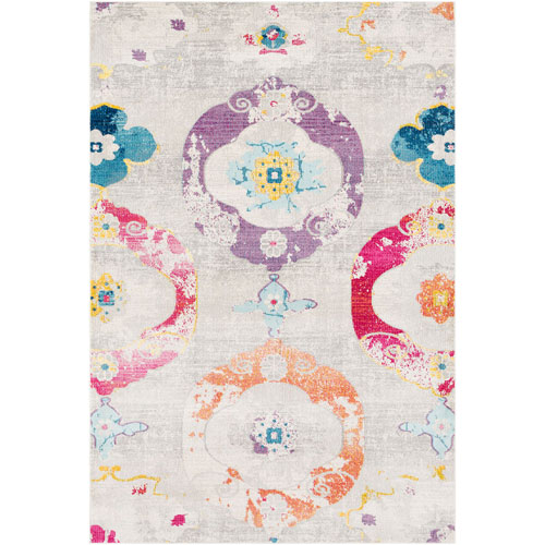 Surya Aura silk Multicolor Rectangle: 2 Ft. x 3 Ft. Rug
