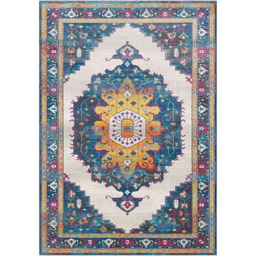 Surya Aura silk Blue Rectangle: 2 Ft. x 3 Ft. Rug