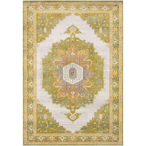 Aura silk Green Rectangle: 2 Ft. x 3 Ft. Rug