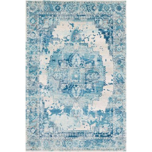 Surya Aura silk Blue Rectangle: 2 Ft. x 3 Ft. Rug