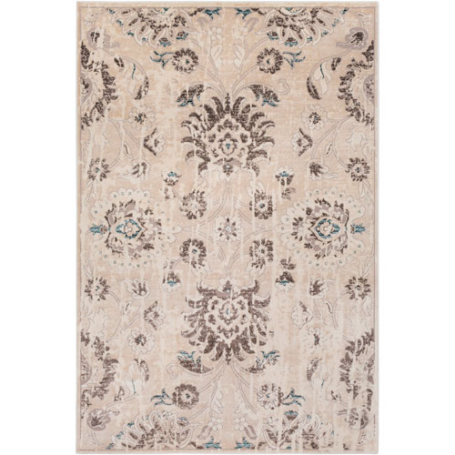 Surya Asia Minor Cream and Brown Rectangle: 2 Ft. x 3 Ft. Rug