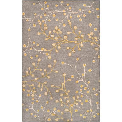 Surya Athena Gray Yellow and Cream Rectangular: 5 ft. x 8 ft. Rug