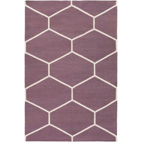 Atrium Eggplant and Ivory Rectangular: 2 Ft x 3 Ft Rug
