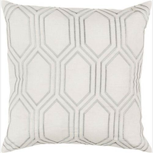 Skyline Ivory 22-Inch Pillow with Poly Fill