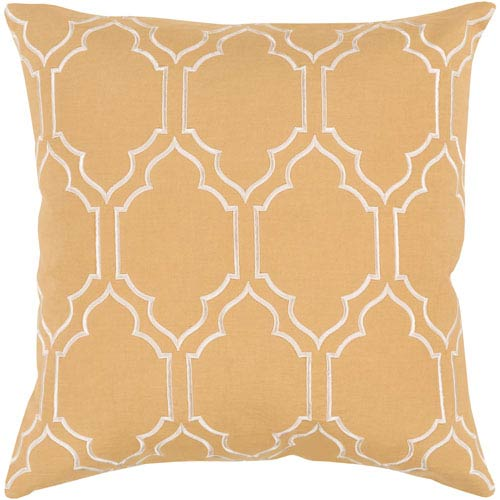 Skyline Yellow and Neutral 20-Inch Pillow Cover