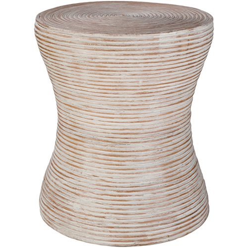 Balinese White Washed Accent Table
