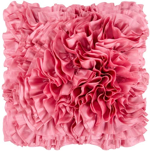 Prom Pink 22-Inch Pillow Cover