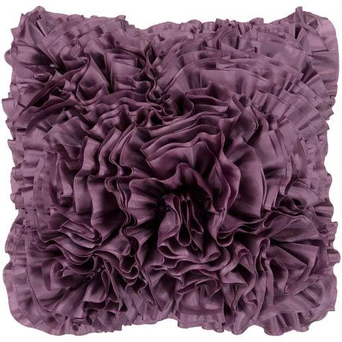 Surya Grape Ruffle 18 x 18 Pillow
