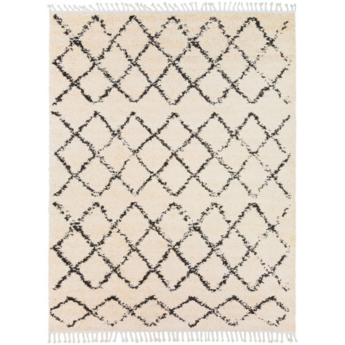 Berber Shag Beige Rectangle: 7 Ft. 10 In. x 10 Ft. 3 In. Rug