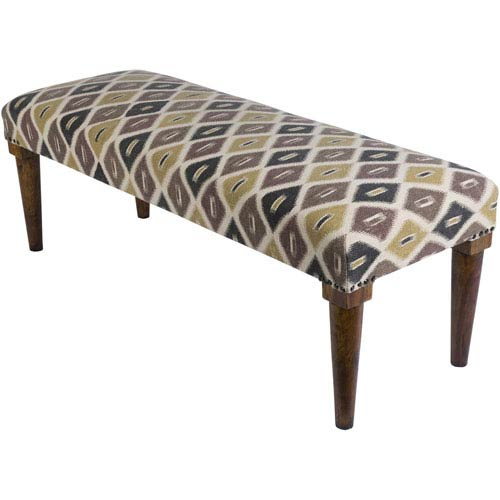 Bhopal Gray and Green Bench