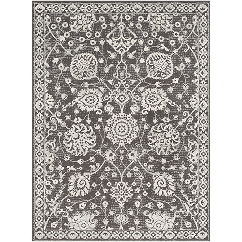 Bahar Charcoal Rectangular: 7 Ft. 10 In. x 10 Ft. 3 In. Rug