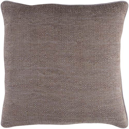 Surya Bihar Medium Gray 18 x 18-Inch Pillow Cover
