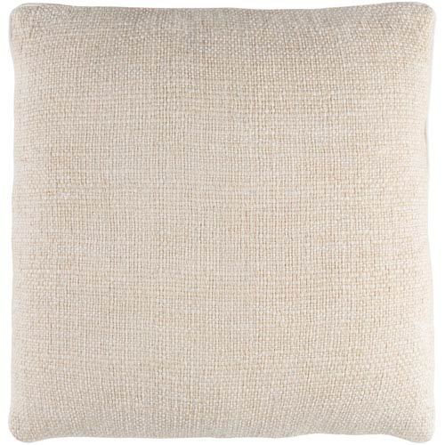 Surya Bihar Neutral 18 x 18-Inch Throw Pillow with Poly Fill