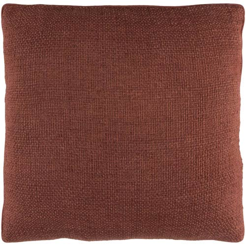 Surya Bihar Brown 18 x 18-Inch Throw Pillow with Down Fill