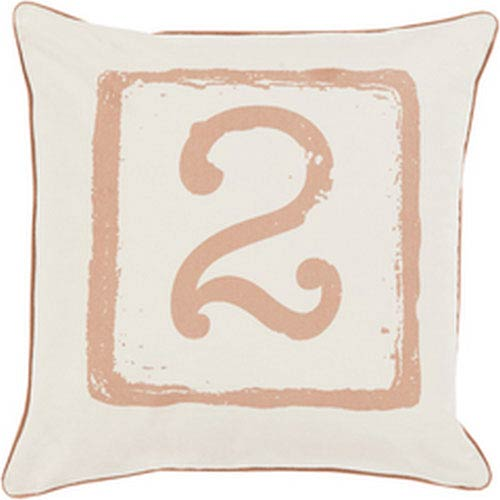 Mike Farrell Terrific Two Tan and Beige 18-Inch Pillow with Down Fill
