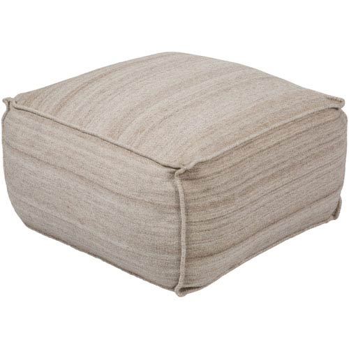 Barnsley Ivory and Brown Pouf