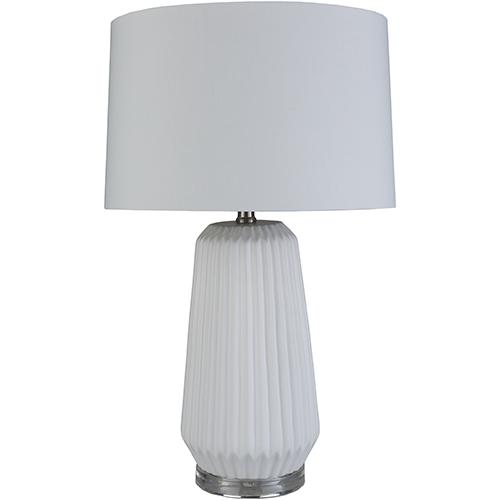 Brock White One-Light Table Lamp
