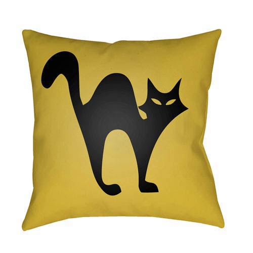 Yellow Boo 18-Inch Throw Pillow with Poly Fill