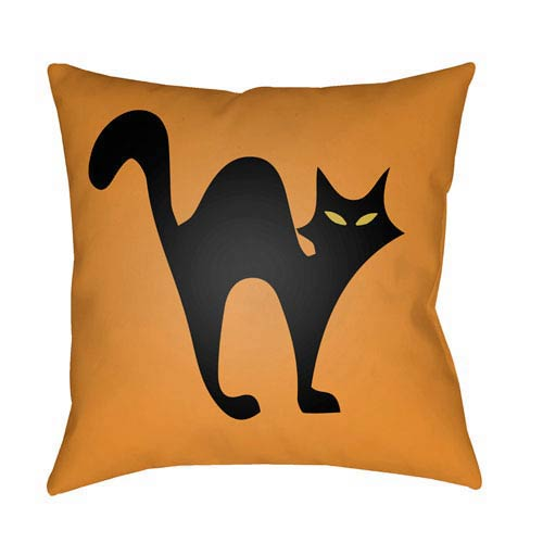 Light Orange Boo 20-Inch Throw Pillow with Poly Fill