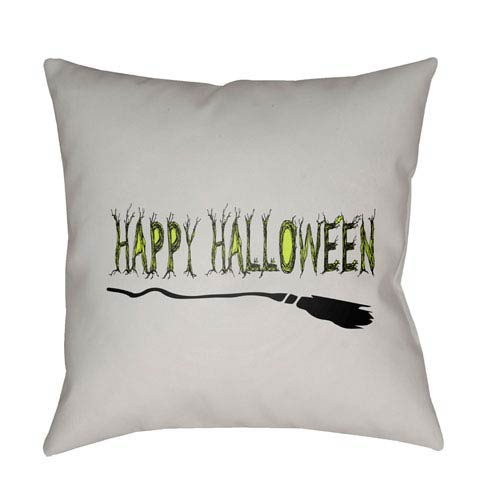 Light Gray Boo 20-Inch Throw Pillow with Poly Fill