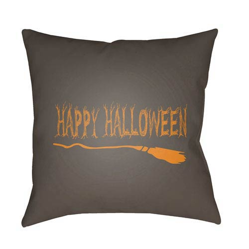 Brown Boo 20-Inch Throw Pillow with Poly Fill