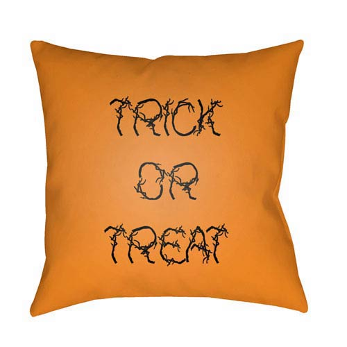 Orange Boo 18-Inch Throw Pillow with Poly Fill