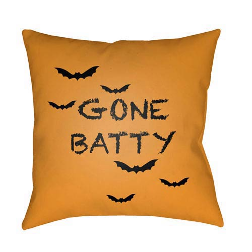 Surya Orange Boo 18-Inch Throw Pillow with Poly Fill