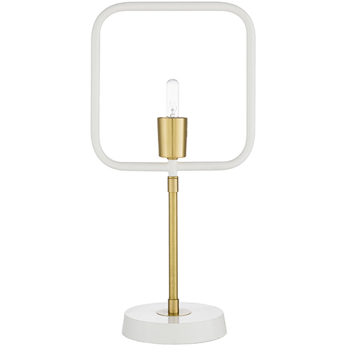 Bowie Brass and White One-Light Table Lamp