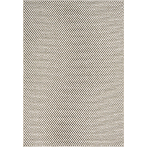 Breeze Ivory and Charcoal Indoor/Outdoor Rectangular: 7 Ft. 10 In. x 10 Ft. 3 In. Rug