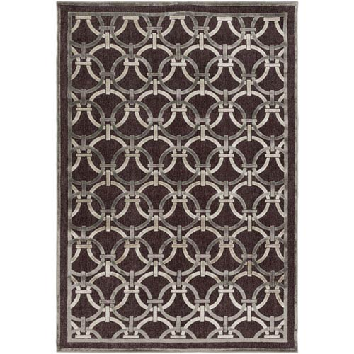 Basilica Chocolate and Light Gray Rectangular: 2 Ft 2 In x 3 Ft Rug