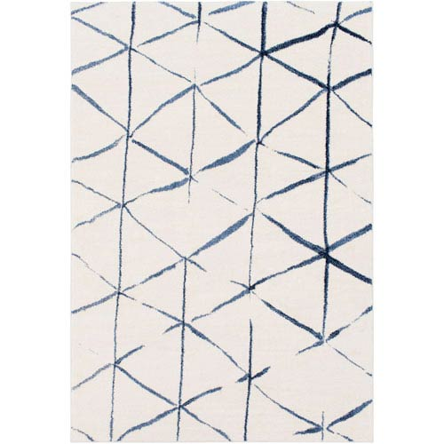 Surya Baylee Cream and Blue Rectangular: 2 Ft. x 3 Ft. 3 In. Rug