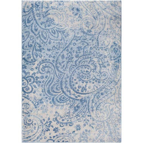 Baylee Blue and Gray Rectangular: 2 Ft. x 3 Ft. 3 In. Rug