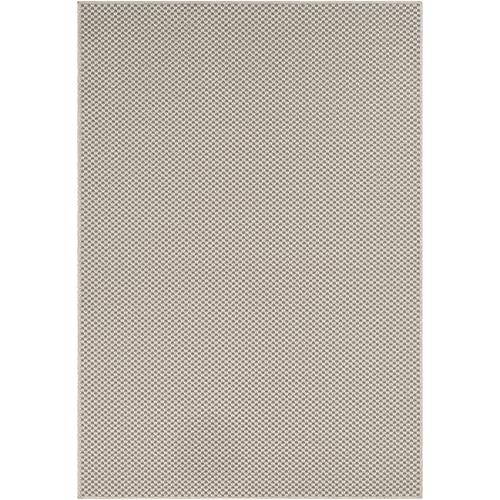 Breeze Ivory and Charcoal Indoor/Outdoor Rectangular: 5 Ft. 3 In. x 7 Ft. 6 In. Rug