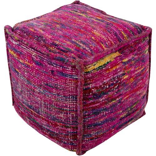 Bazaar Pink Cube Pouf