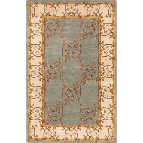 Caesar Slate Gray and Oyster Gray Rectangular: 5 Ft. x 8 Ft. Rug