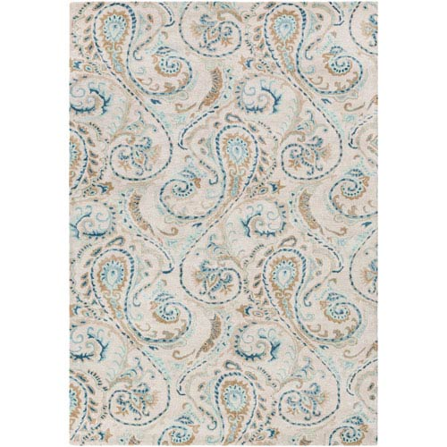 Surya Modern Classics Gray and Blue Runner: 2 Ft. 6 In. x 8 Ft. Rug