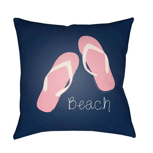 Surya Carolina Coastal Bright Pink and Violet 18 x 18-Inch Pillow
