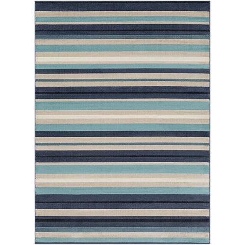 City Aqua and Charcoal Rectangular: 9 Ft. 3 In. x 12 Ft. 3 In. Rug