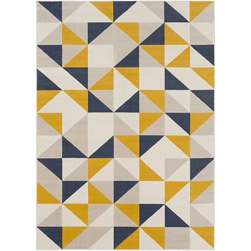 City Mustard and Charcoal Rug