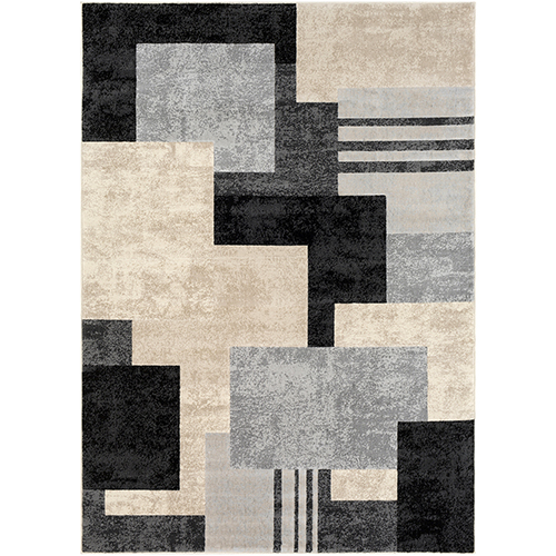 City Black, Taupe and Beige Rectangular: 9 Ft. 3 In. x 12 Ft. 3 In. Rug